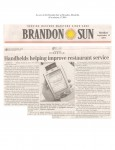 Handhelds helping improve restaurant service